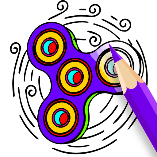 Fidget Spinner Coloring Book: Adult Coloring Pages Icon