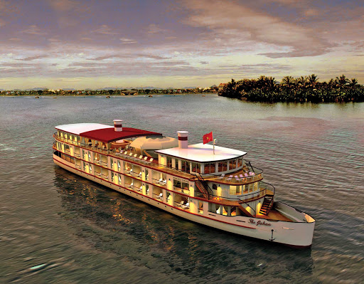 jahan-on-mekong-river.jpg - The Jahan was designed for sailings on the Mekong River to Vietnam and Cambodia.
