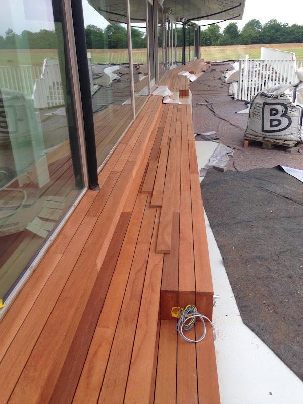 Terrasafwerking hout Golf Club Tielt-Winge