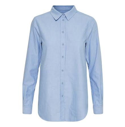 Part Two Chrissie SH oxford blouse vista blue