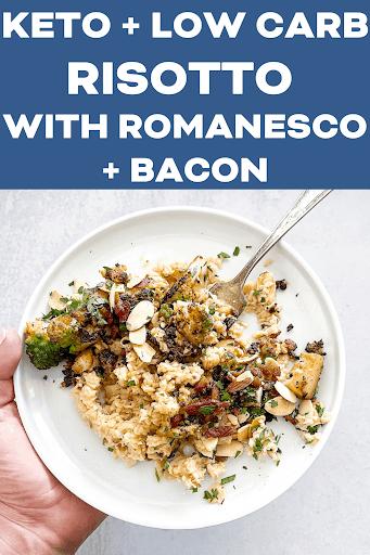 Keto Risotto with Romanesco + Bacon