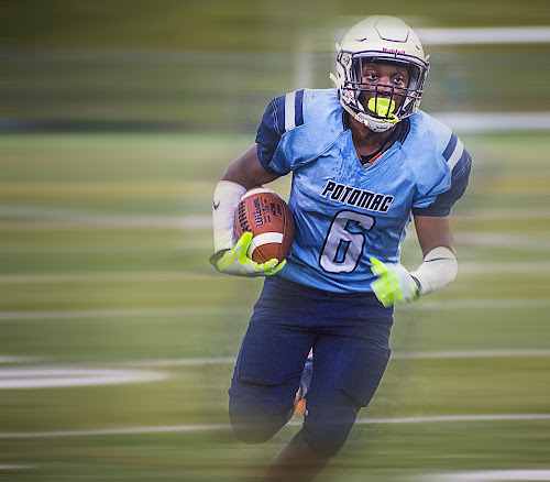 Eddie Tyson by Elk Baiter - Sports & Fitness American and Canadian football ( running back, football, high school, varsity, sports, panthers, athlete, potomac )