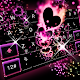 Sparkling Heart Keyboard Theme for PC