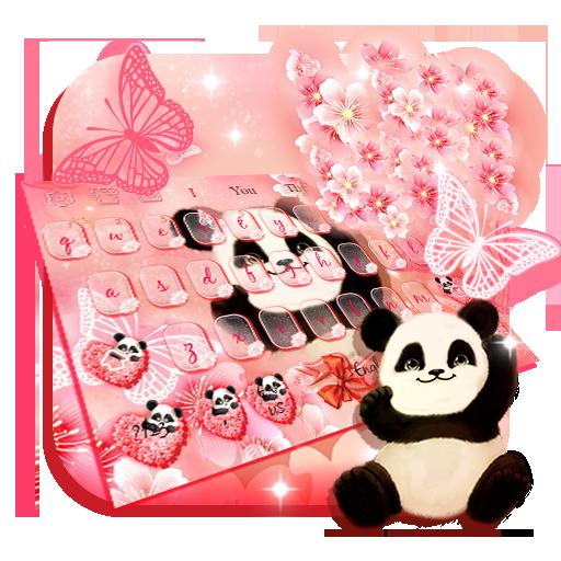 Panda Sakura Keyboard Theme