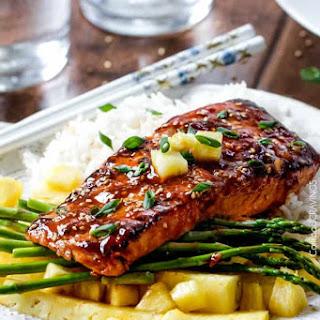 Caramelized Asian BBQ Salmon.