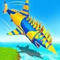 Robot Shark Attack: Transform Robot Shark Games icon