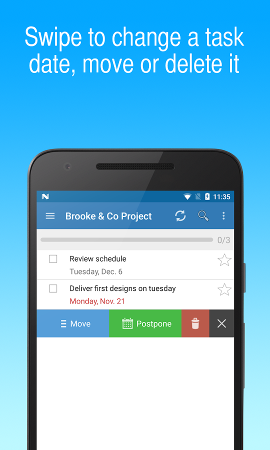 To-Do Lists for Google Tasks: captura de tela