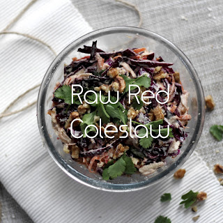 Raw Red Coleslaw.