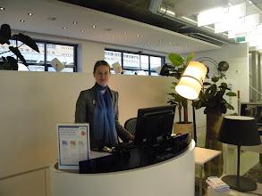 Photo: Marije van Lent, Customer Service Representative van Regus-NS Station2Station Amersfoort was de gehele dag onze gastvrouw.