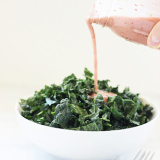 Homemade Cranberry Vinaigrette Salad Dressing.