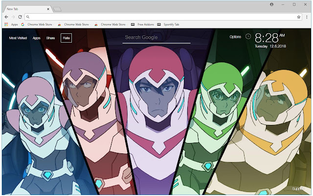Voltron HD Wallpaper Cartoon New Tab Themes