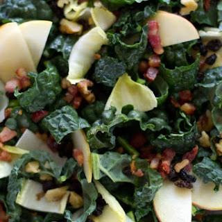 Kale-Apple Salad with Maple-Walnut Dressing