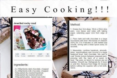 Chocolate recipes screenshot 2
