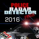 Police radar detector prank icon