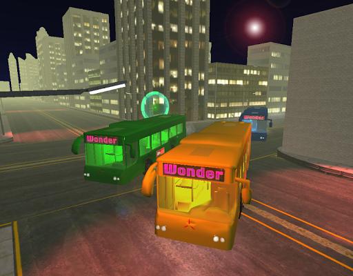 밤 시내 버스 드라이버 3D 2015
