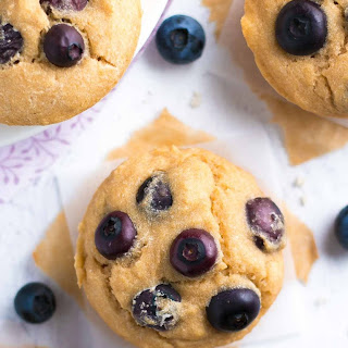 The Best Healthy Blueberry Muffins.