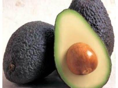 Internet Picture -- Notice The Avocado On The Left ... See The Stem A Little Sunken In And The Skin A Dull Color? That Means It Is A Little Too Ripe And Should Be Used Right Away. The One On The Right Is Perfect -- Skin Black And Slightly Shiny, Pit Shiny