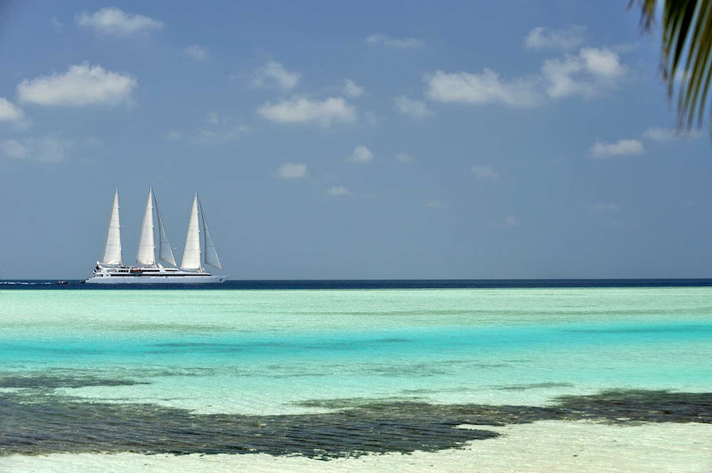 Vist the gorgeous Maldives, off the coast of Africa, as part of a Ponant yacht cruise.