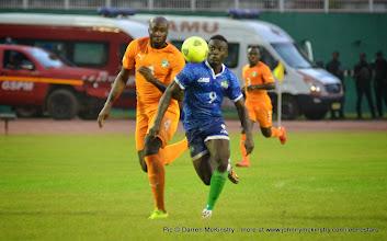 Photo: Alhassan 'Crespo' Kamara    [Leone Stars v Ivory Coast, 6 September 2014 (Pic © Darren McKinstry / www.johnnymckinstry.com)]