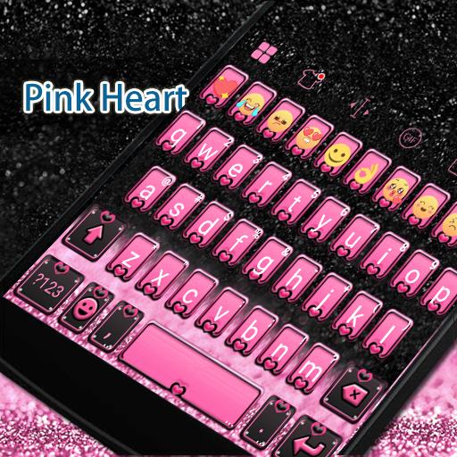 Pink Heart Eva Keyboard -Gifs 遊戲 App LOGO-硬是要APP