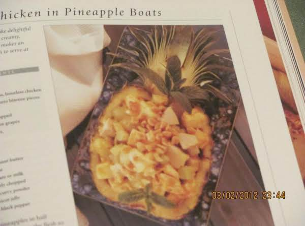 Peanut Chicken In Pineapple Boats Recipe