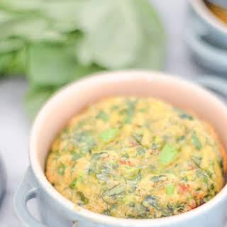 Basil + Greens Egg Soufflé.
