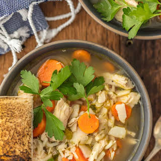 Homemade Chicken Noodle Soup.