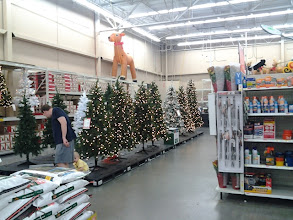 Photo: After we turned the corner, at my surprise, there was Christmas tree! Already?!?