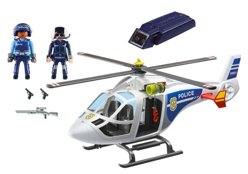 Contenido de Playmobil® 6921 Helicóptero de Policía con Luces Led
