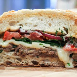 Hot and Toasty Steak Sandwich.