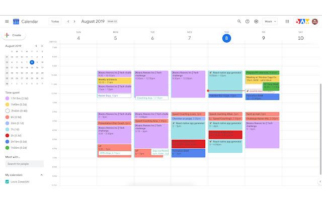 Google Calendar Time Spent