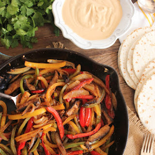 Portobello Fajitas with Chipotle Cashew Cream