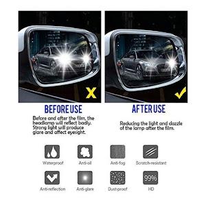 Set 4 x Folie antiaburire pentru oglinzi auto