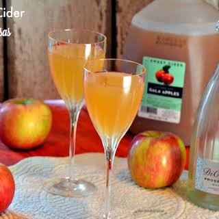 Apple Cider Mimosas.