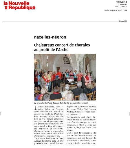 article-la-nouvelle-republique-concert-a-negron-au-profit-de-l-arche-de-jean-vanier