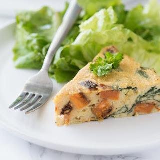 Spinach & Sweet Potato Chickpea Crustless Quiche