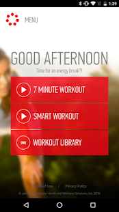 J&J Official 7 Minute Workout – Miniaturansicht des Screenshots