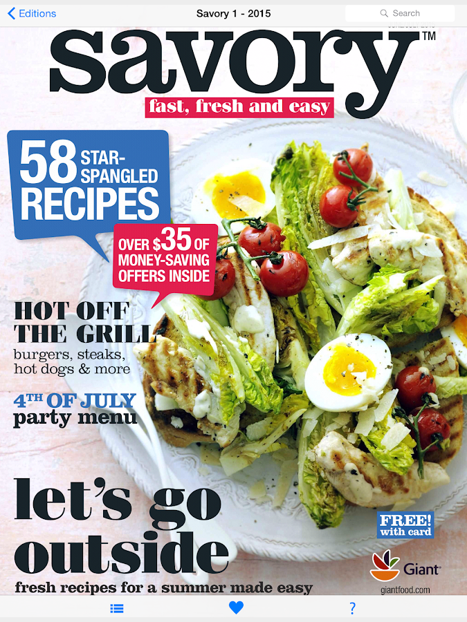 Savory Magazine by Giant Food- screenshot