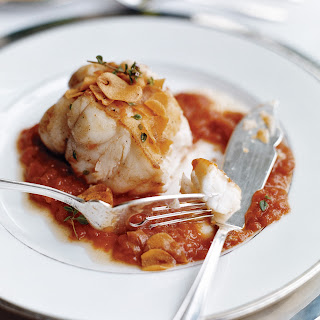 Monkfish in Tomato-Garlic Sauce Recipe