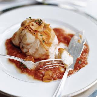 Monkfish in Tomato-Garlic Sauce.