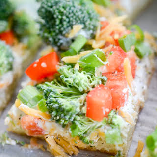 Weight Watchers Veggie Ranch Pizza.