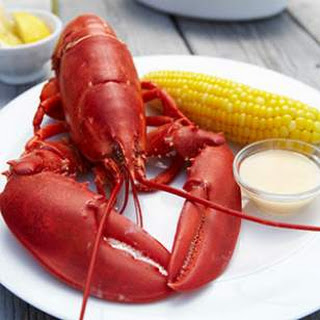 Boiled Lobsters with Dipping Sauce.