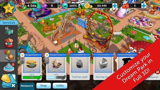 RollerCoaster Tycoon Touch Hack for the game
