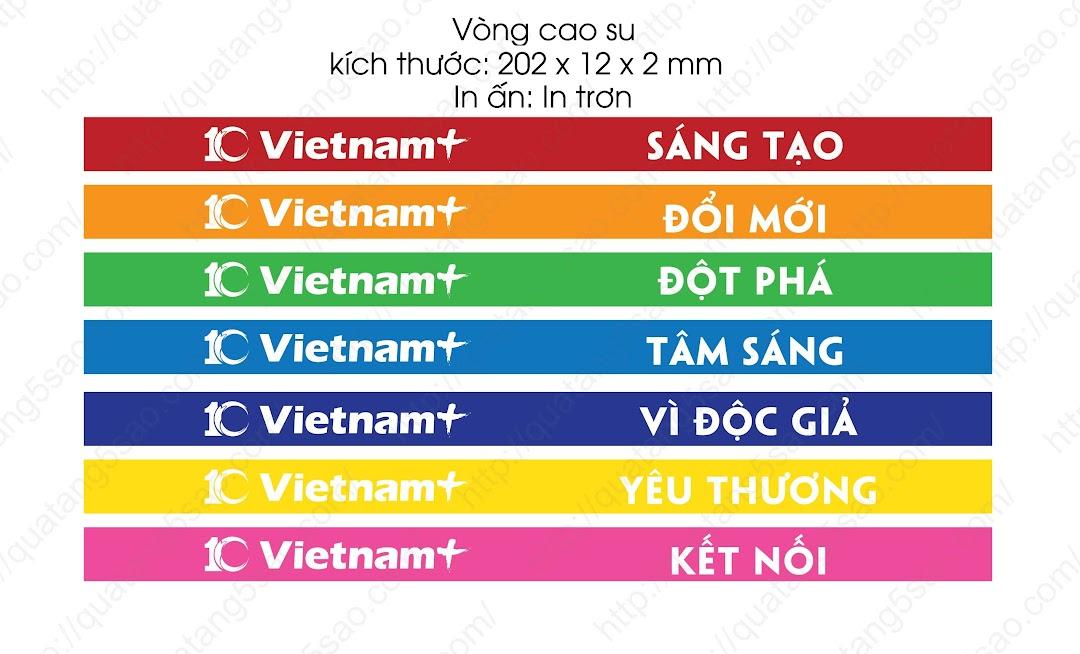 In vòng tay cao su cho báo điện tử vietnamplus.vn