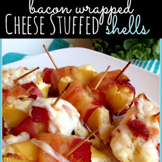 Bacon Wrapped Cheese Stuffed Shells