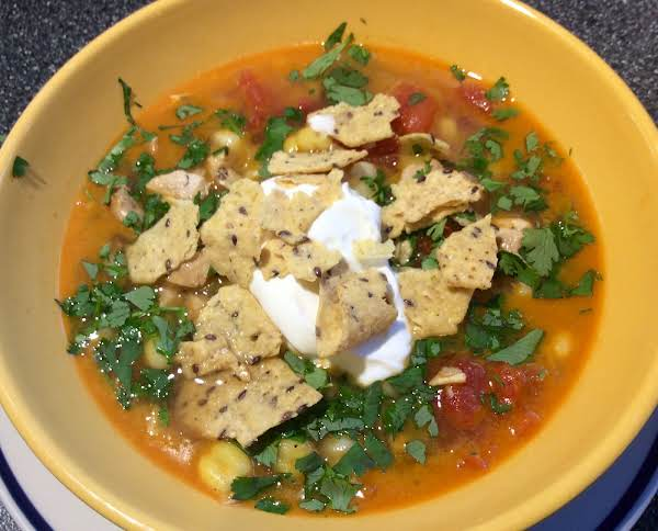Chicken And Hominy Soup With Cilantro And Lime Recipe