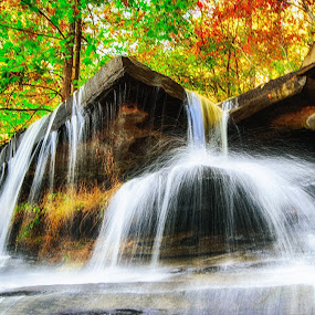 Unnamed Waterfall by Bill Frische - Landscapes Waterscapes