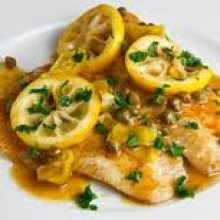Tilapia Piccata Breaded Lemon Infused Olive Oil