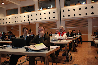 "Photo: ""Communicating Science & Innovations"" Panel - 2012 (audience: A. Suslova, S. Naumov, G. Catalfamo - center)"