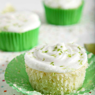Margarita Cupcakes with Salted Tequila Frosting.